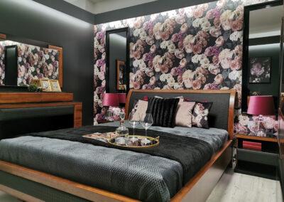 Lifting strefy sypialni i jadalni w salonie firmy Telmar we Włocławku