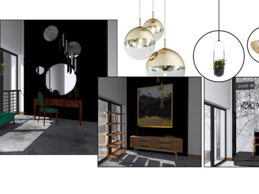 Projekt klatek schodowych – salon meblowy Mebel-Styl w Świdnicy