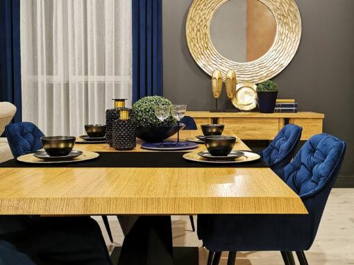 Projekt i aranżacja kolekcji mebli firmy Mebin w salonie Bax-Pol